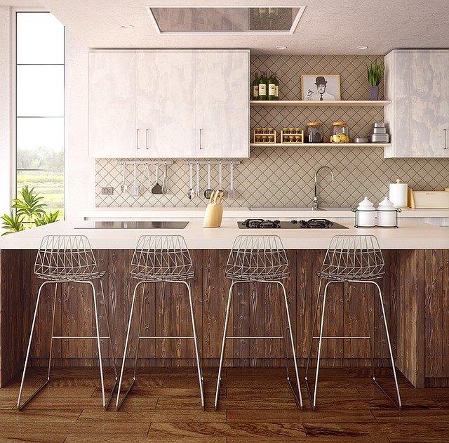 Tapeta ścienna, tapeta na ścianę, tapeta kuchenna, tapeta do kuchni, tapeta kamień, aranżacja kuchni