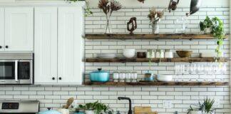 styl vintage, vintage, kuchnia vintage, kuchnia w stylu vintage, aranżacja kuchni, wystrój kuchni, starodawna kuchnia